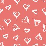 Teste padrão sem emenda com a imagem dos corações Foto de Stock Royalty Free