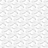 Teste padrão sem emenda com insetos desenhados à mão Fotos de Stock Royalty Free