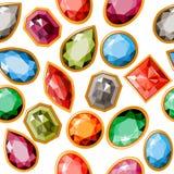 Teste padrão sem emenda com jóias Fotos de Stock Royalty Free