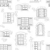 Teste padrão sem emenda com janela ilustração royalty free