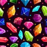 Teste padrão sem emenda com joias e diamantes Imagens de Stock Royalty Free