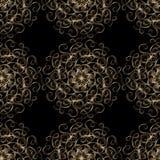 Teste padrão sem emenda com laço do ouro ilustração stock