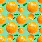 Teste padrão sem emenda com laranjas e folhas Imagem de Stock