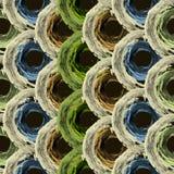 Teste padrão sem emenda com linhas abstratas, círculos Fotografia de Stock Royalty Free