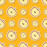 Teste padrão sem emenda com maçã Foto de Stock Royalty Free