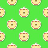Teste padrão sem emenda com maçã Imagens de Stock Royalty Free
