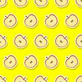Teste padrão sem emenda com maçã Imagens de Stock