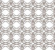 Teste padrão sem emenda com malha de tecelagem do círculo Imagens de Stock Royalty Free