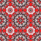 Teste padrão sem emenda com mandalas Vector ornamento em cores na moda para seu projeto ilustração royalty free