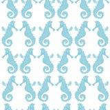 Teste padrão sem emenda com Mar-cavalos ilustração royalty free