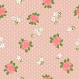 Teste padrão sem emenda com margaridas e rosas dos desenhos animados Imagem de Stock Royalty Free