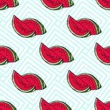 Teste padrão sem emenda com melancias Fotos de Stock