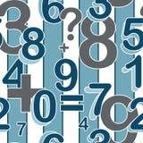 Teste padrão sem emenda com números Foto de Stock Royalty Free