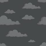 Teste padrão sem emenda com nuvens pretas Foto de Stock Royalty Free