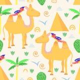 Teste padrão sem emenda com o camelo no estilo escandinavo - ilustração do vetor, eps ilustração do vetor