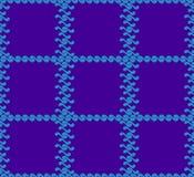 Teste padrão sem emenda com o JPG do azul de yang do yin das ondas Fotografia de Stock Royalty Free