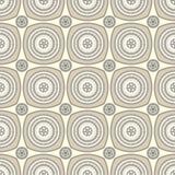 Teste padrão sem emenda com o ornamento do círculo no bege Imagem de Stock Royalty Free