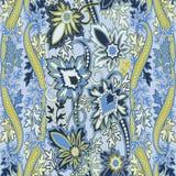 Teste padrão sem emenda com o ornamento filigrana oriental do paisleyTraditional ilustração royalty free