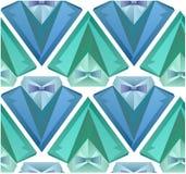 Teste padrão sem emenda com o terno dos homens do origâmi Foto de Stock Royalty Free