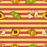 Teste padrão sem emenda com olhos Cores brilhantes ilustração do vetor