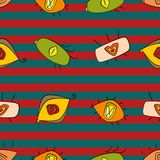 Teste padrão sem emenda com olhos Cores brilhantes ilustração stock