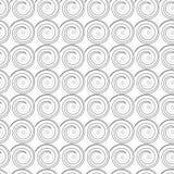 Teste padrão sem emenda com ondas espirais Imagem de Stock Royalty Free