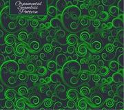Teste padrão sem emenda com ondas Ornamento verde Foto de Stock