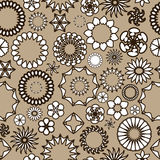 Teste padrão sem emenda com ornamento florais Imagens de Stock Royalty Free
