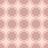 Teste padrão sem emenda com ornamento redondos Ilustração Royalty Free