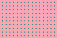 Teste padrão sem emenda com os às bolinhas verdes na cor do rosa cor-de-rosa Fotos de Stock