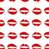 Teste padrão sem emenda com os bordos gráficos vermelhos no fundo branco Estilo na moda moderno do minimalismo ilustração royalty free
