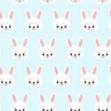 Teste padrão sem emenda com os coelhos dos desenhos animados para crianças Cópia da arte abstrato Fundo com animais bonitos Ilust ilustração royalty free