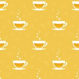 Teste padrão sem emenda com os copos do chá Foto de Stock Royalty Free