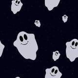 Teste padrão sem emenda com os fantasmas coloridos engraçados Imagem de Stock Royalty Free