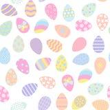 Teste padrão sem emenda com ovos da páscoa ilustração stock