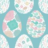Teste padrão sem emenda com ovos da páscoa, vetor