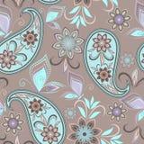 Teste padrão sem emenda com paisley e borboletas Imagem de Stock Royalty Free