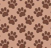 Teste padrão sem emenda com a pata do gato e do cão ilustração stock