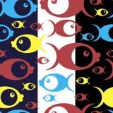Teste padrão sem emenda com peixes Fotografia de Stock