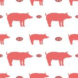Teste padrão sem emenda com porcos ilustração stock