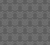 Teste padrão sem emenda com protetores e machados de viquingue Imagens de Stock