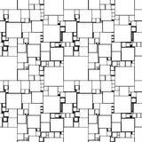 Teste padrão sem emenda com quadrados ilustração do vetor