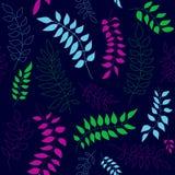 Teste padrão sem emenda com ramos coloridos ilustração do vetor