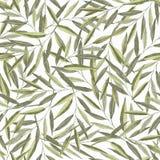 Teste padrão sem emenda com ramos da aquarela ilustração stock