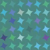 Teste padrão sem emenda com rombos azuis, verdes, roxos, violetas, formas geométricas, estrelas no fundo verde Fotos de Stock