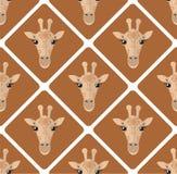 Teste padrão sem emenda com rombos dos girafas no fundo bege ilustração do vetor