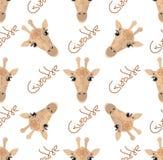 Teste padrão sem emenda com rombos dos girafas no fundo branco ilustração stock