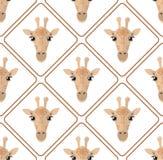 Teste padrão sem emenda com rombos dos girafas no fundo branco ilustração royalty free