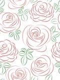 Teste padrão sem emenda com rosas. ilustração stock