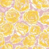 Teste padrão sem emenda com rosas ilustração do vetor